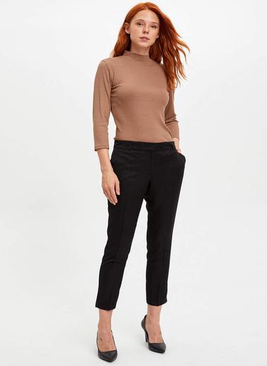 DeFacto Slim Fit Uzun Kollu T-Shirt Kahve